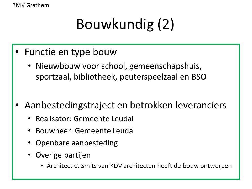 Bouwkundig (2) Functie en type bouw Nieuwbouw voor school, gemeenschapshuis, sportzaal, bibliotheek, peuterspeelzaal en BSO Aanbestedingstraject en be