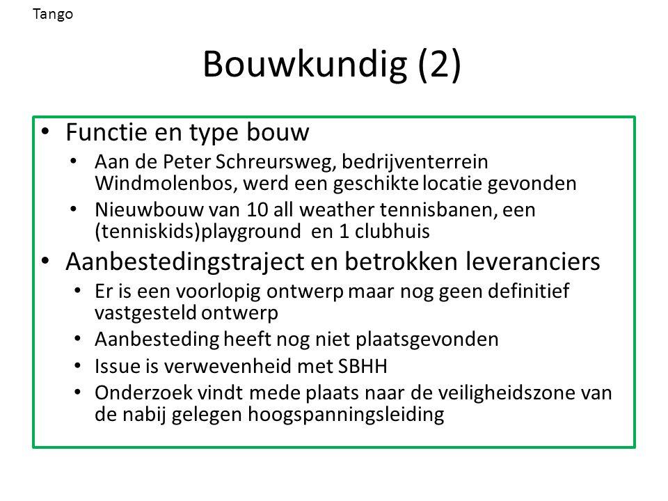 Bouwkundig (2) Functie en type bouw Aan de Peter Schreursweg, bedrijventerrein Windmolenbos, werd een geschikte locatie gevonden Nieuwbouw van 10 all