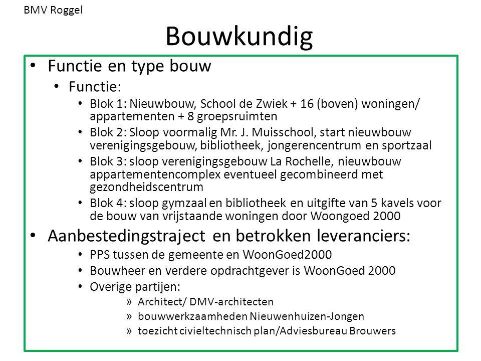Bouwkundig Functie en type bouw Functie: Blok 1: Nieuwbouw, School de Zwiek + 16 (boven) woningen/ appartementen + 8 groepsruimten Blok 2: Sloop voormalig Mr.