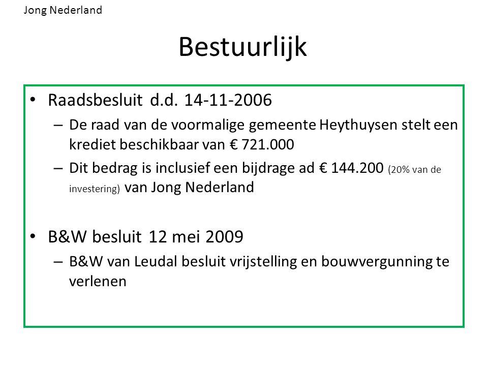 Bestuurlijk Raadsbesluit d.d. 14-11-2006 – De raad van de voormalige gemeente Heythuysen stelt een krediet beschikbaar van € 721.000 – Dit bedrag is i