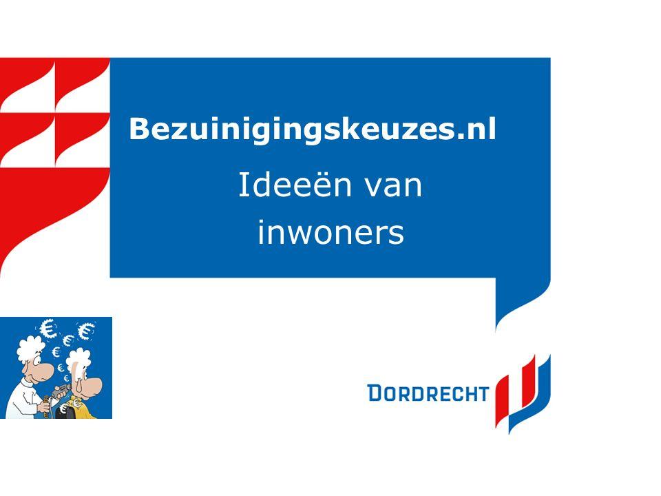 Bezuinigingskeuzes.nl Ideeën van inwoners