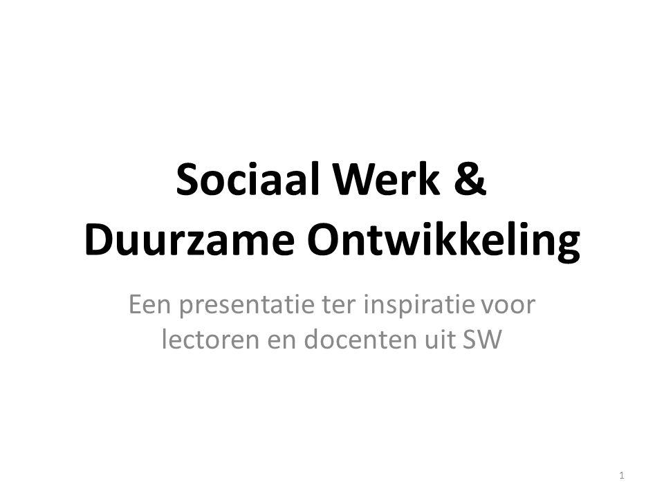 Welzijn Herdefiniëring van 'goed leven' Herdenken van 'emancipatie' - o.a.