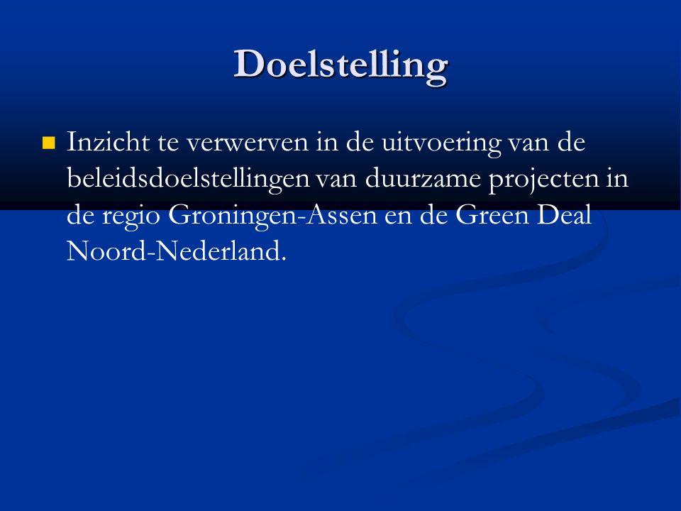 Conclusie GDNN Naast fysieke doelstellingen (toename groen gas installaties en besparing fossiel) ook systeemveranderende doelstellingen: in kaart brengen succes- en faalfactoren, Noord- Nederland als proeftuin voor groene experimenten en de oprichting en financiering van kennisclusters (Energy Academy Europe) GDNN is een bundeling van voornamelijk bestaande projecten