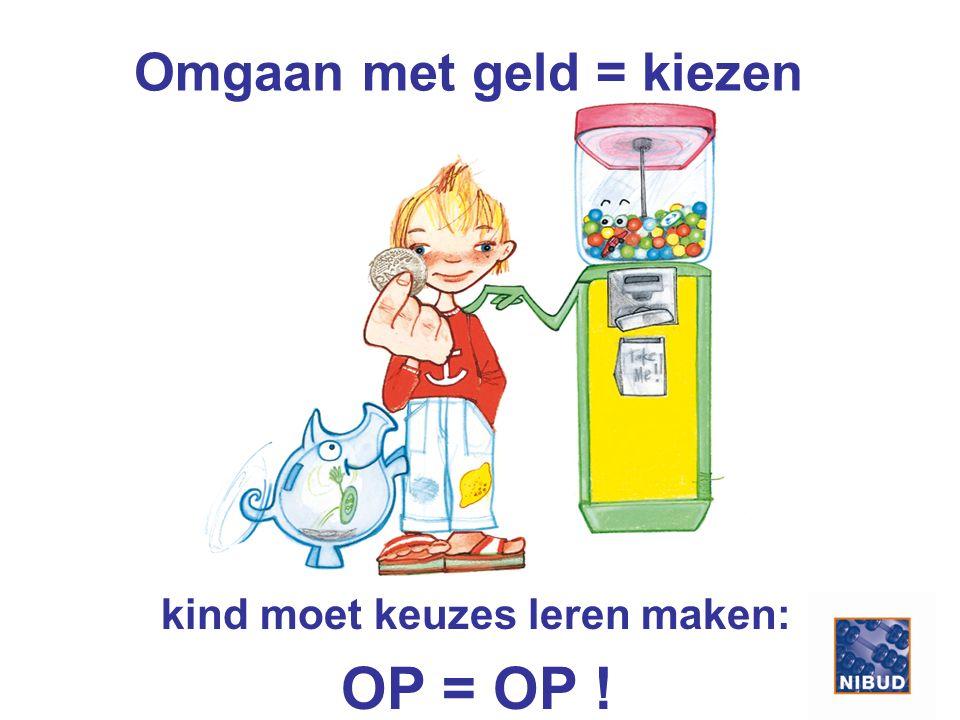 Omgaan met geld = kiezen kind moet keuzes leren maken: OP = OP !