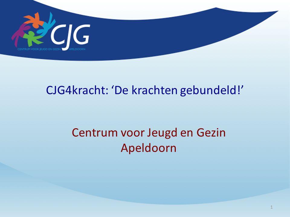 CJG4kracht: 'De krachten gebundeld!' Centrum voor Jeugd en Gezin Apeldoorn 1