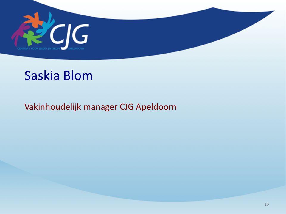 Saskia Blom Vakinhoudelijk manager CJG Apeldoorn 13