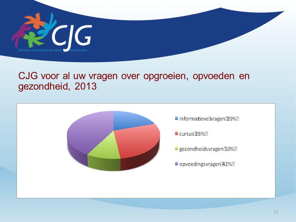 17 CJG voor al uw vragen over opgroeien, opvoeden en gezondheid, 2013