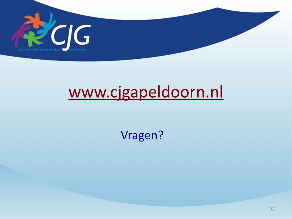 www.cjgapeldoorn.nl Vragen? 32