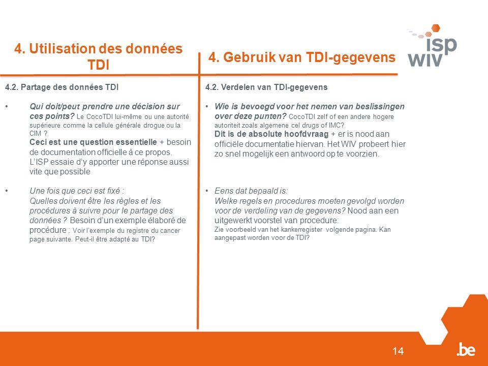 15 4.Utilisation des données TDI 4.
