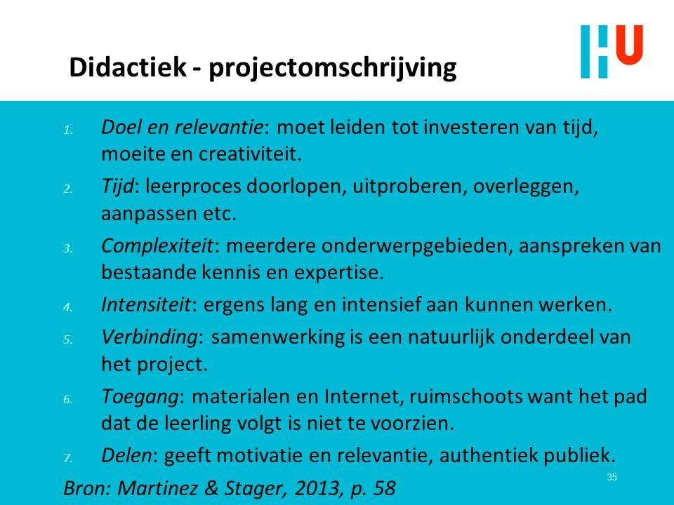 Didactiek - projectomschrijving 1.