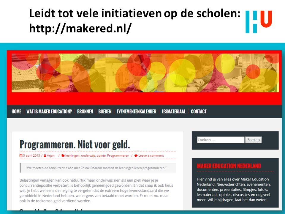 Leidt tot vele initiatieven op de scholen: http://makered.nl/ n Beoordelen met een rubric 38