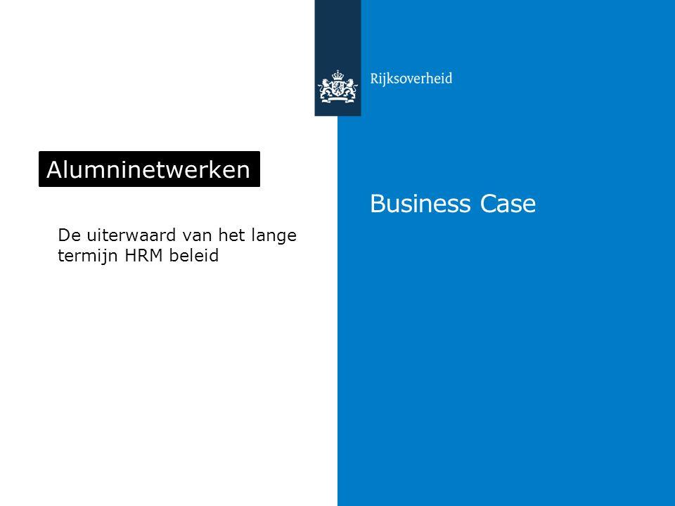 Inhoud Trends & veranderingen Alumninetwerken Succesfactoren Cases Business case variabelen + rekenvoorbeeld