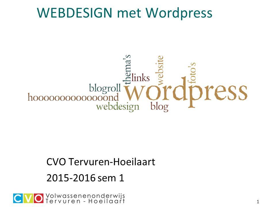 1 WEBDESIGN met Wordpress CVO Tervuren-Hoeilaart 2015-2016 sem 1