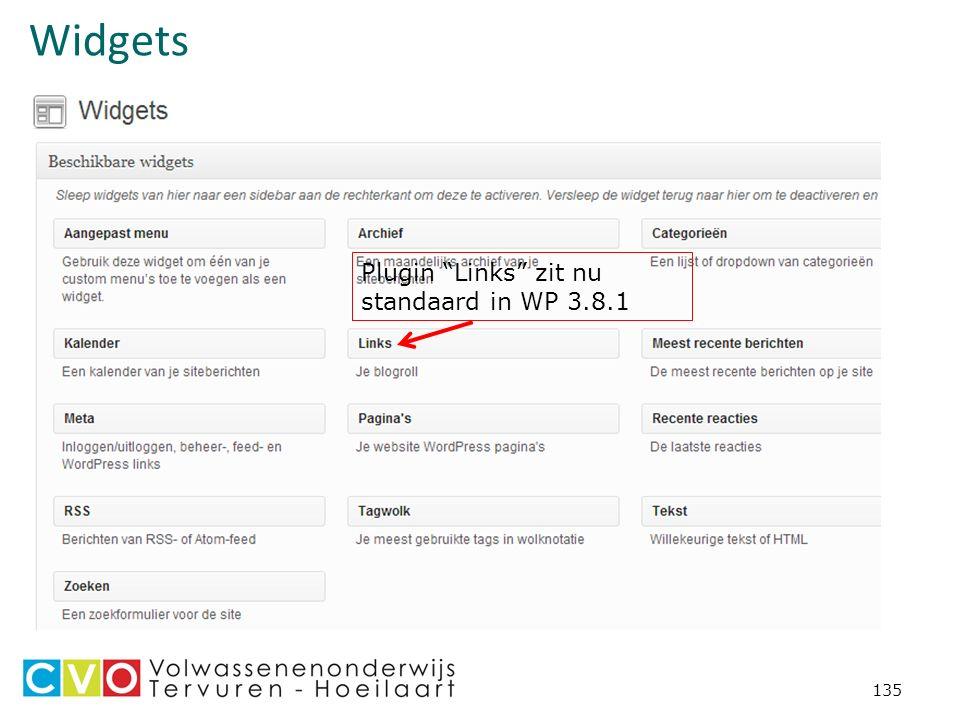 Widgets 135 Plugin Links zit nu standaard in WP 3.8.1