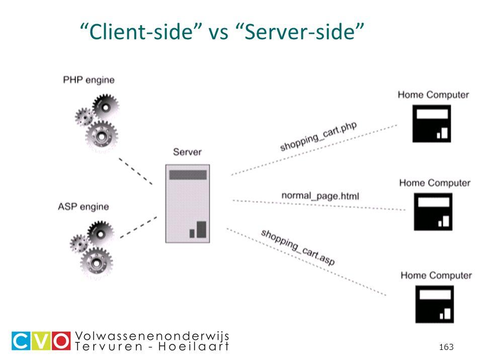 163 Client-side vs Server-side