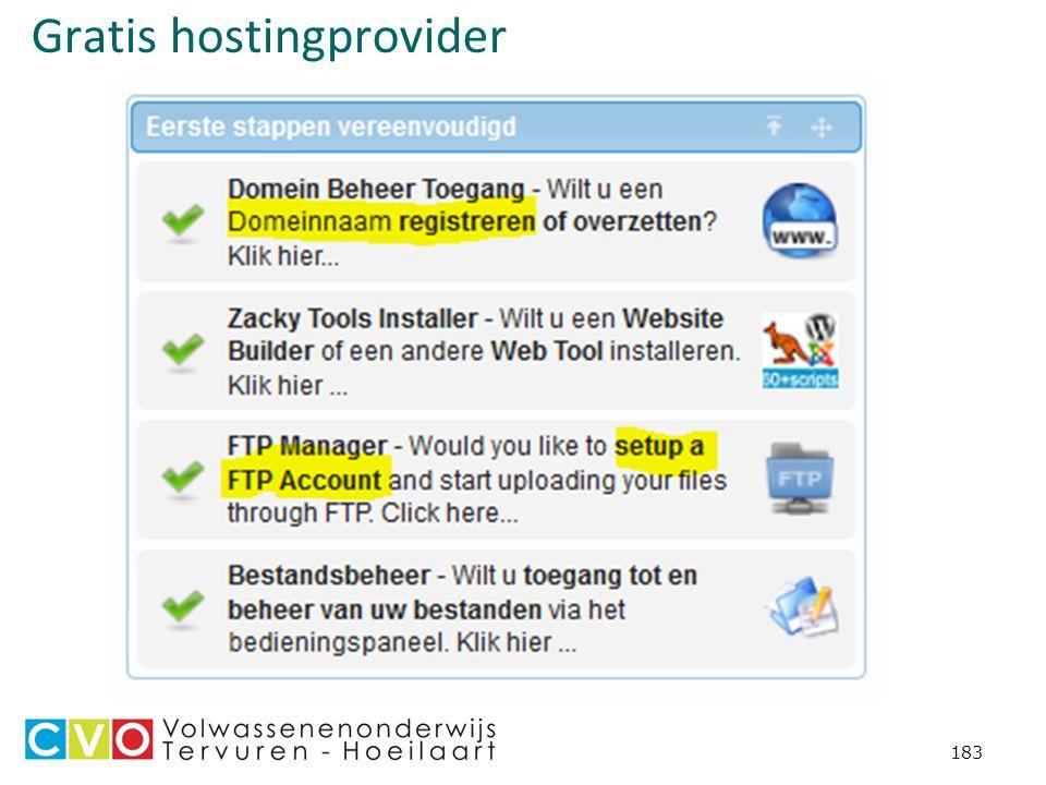 Gratis hostingprovider 183