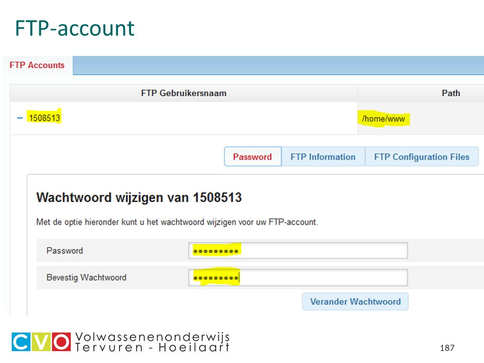 FTP-account 187