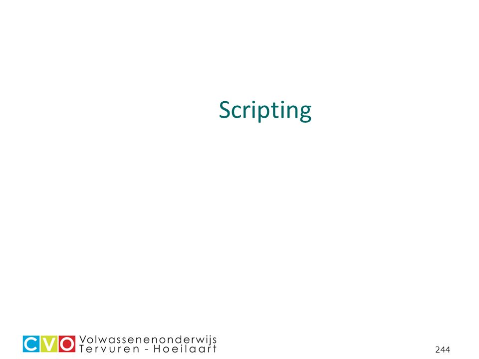 244 Scripting