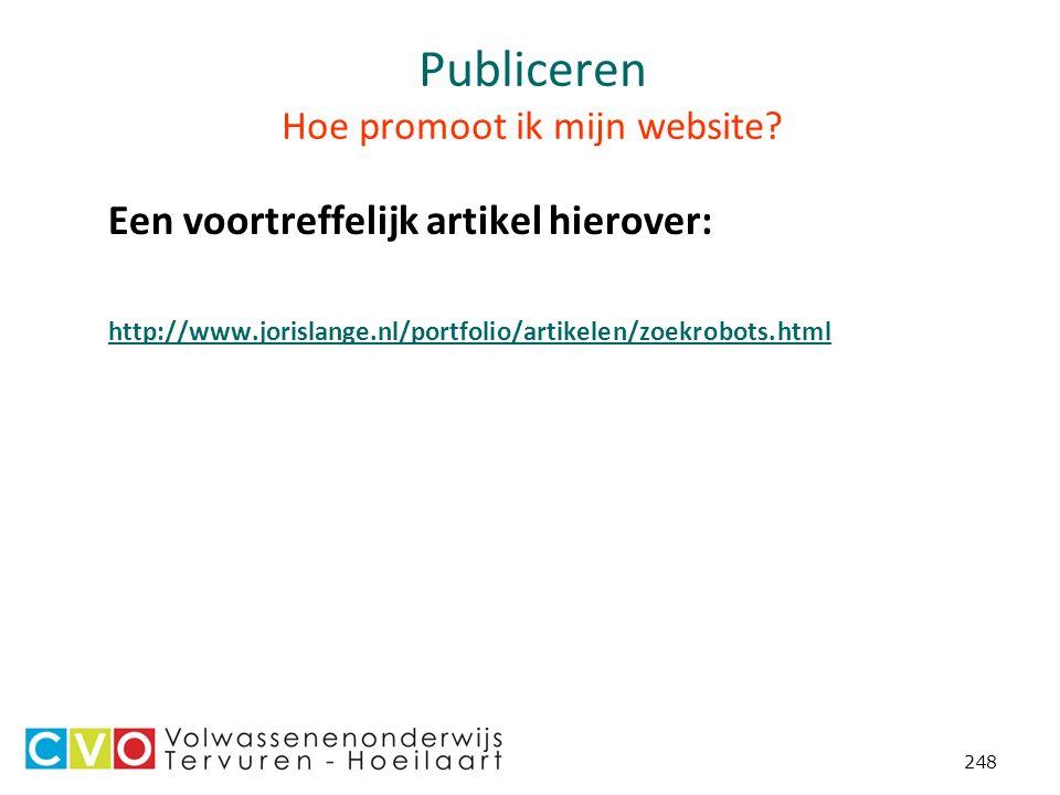 248 Publiceren Hoe promoot ik mijn website.
