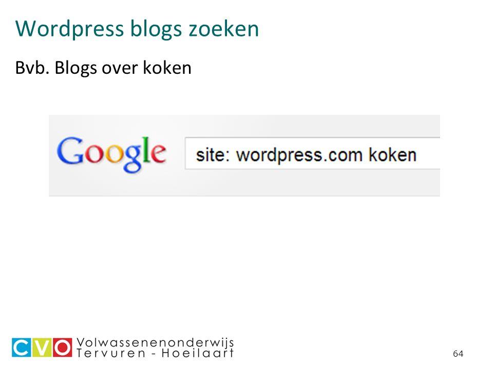 Wordpress blogs zoeken Bvb. Blogs over koken 64