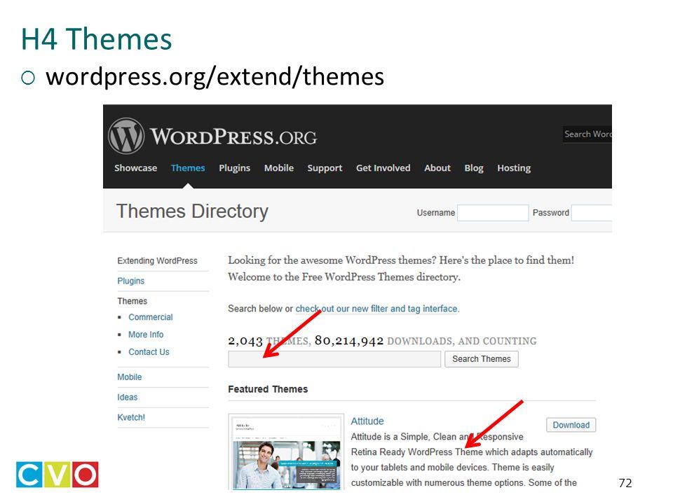 H4 Themes  wordpress.org/extend/themes 72