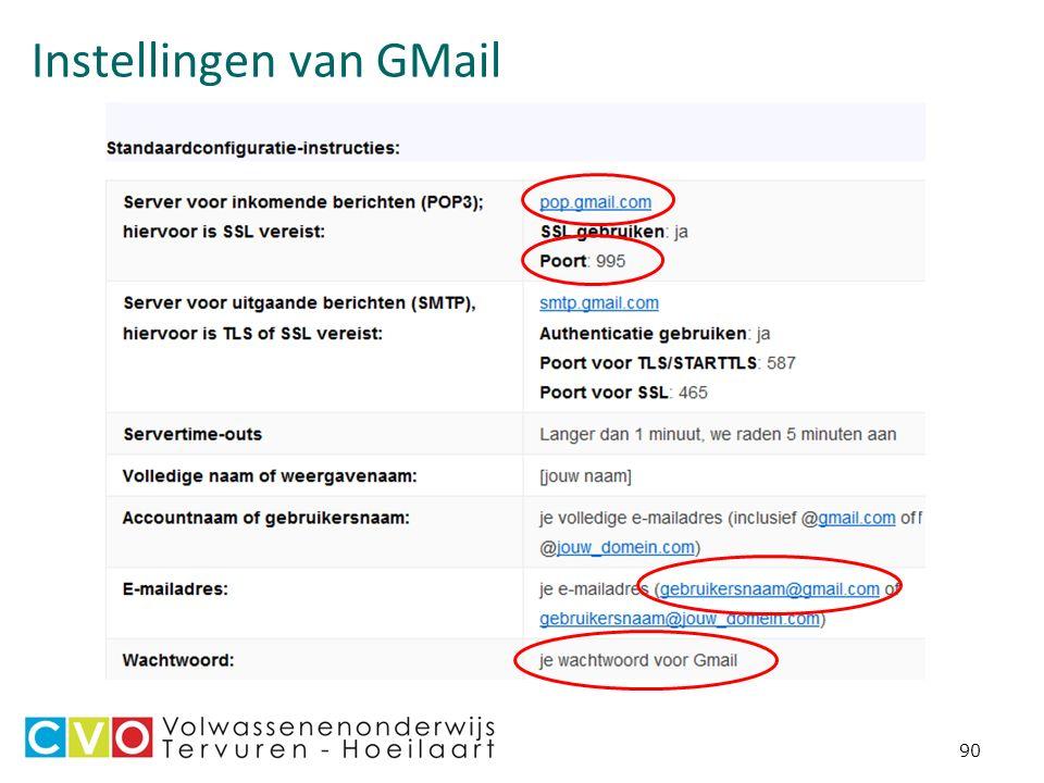 Instellingen van GMail 90