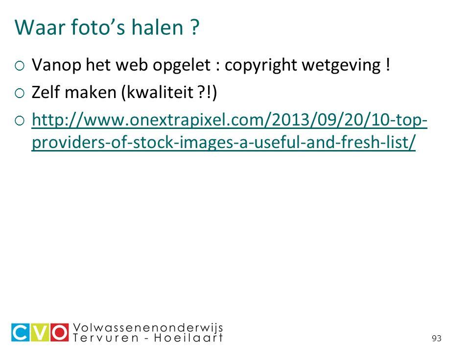 Waar foto's halen .  Vanop het web opgelet : copyright wetgeving .