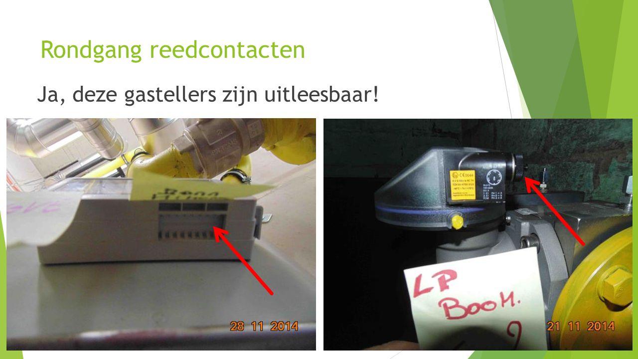 14 Rondgang reedcontacten Ja, deze gastellers zijn uitleesbaar!