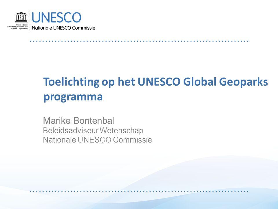 Inleiding Ontwikkeling van het geoparkennetwerk Het UNESCO Global Geoparks programma Het Nederlandse geoparkenforum NFUGG