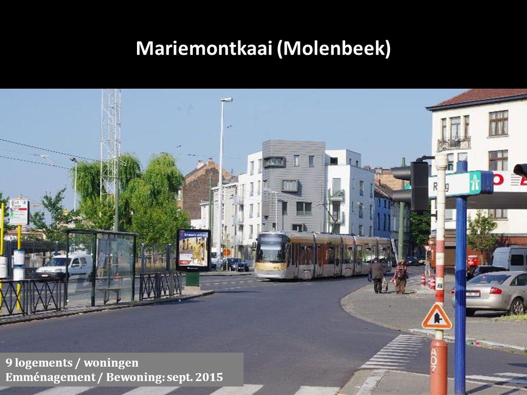 Mariemontkaai (Molenbeek) 9 logements / woningen Emménagement / Bewoning: sept. 2015