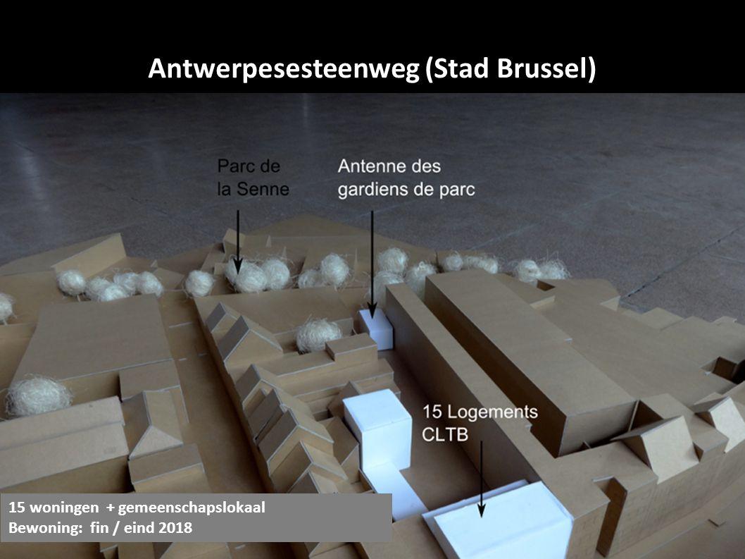 Antwerpesesteenweg (Stad Brussel) 15 woningen + gemeenschapslokaal Bewoning: fin / eind 2018