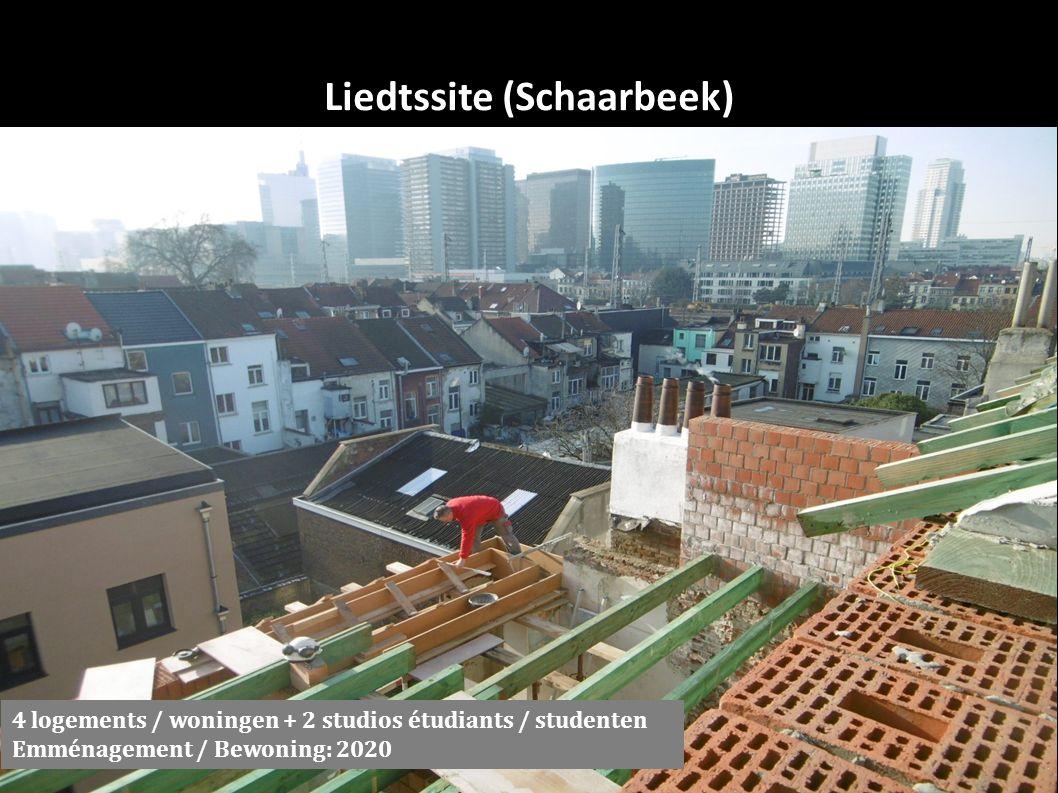 Liedtssite (Schaarbeek) 4 logements / woningen + 2 studios étudiants / studenten Emménagement / Bewoning: 2020