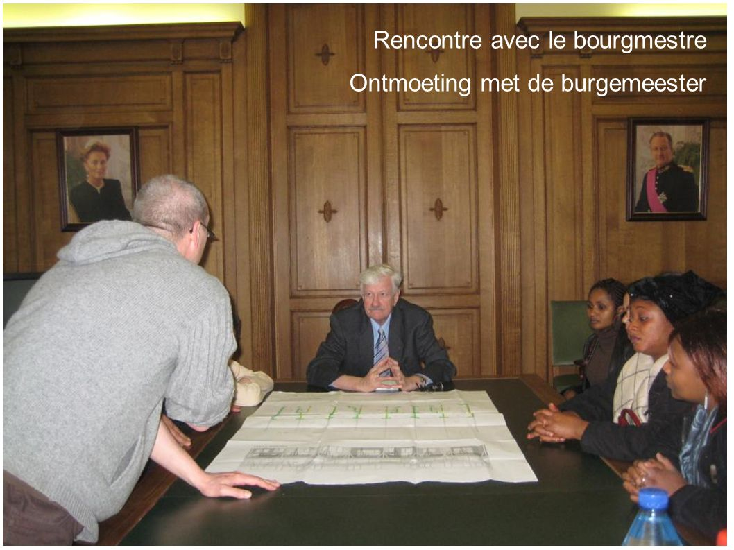 Rencontre avec le bourgmestre Ontmoeting met de burgemeester