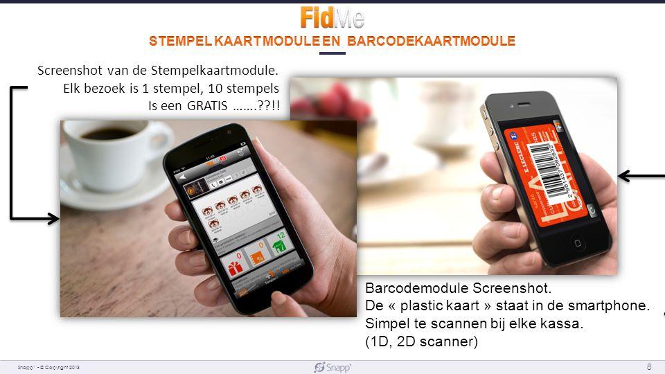 Snapp' - © Copyright 2013 8 Screenshot van de Stempelkaartmodule.