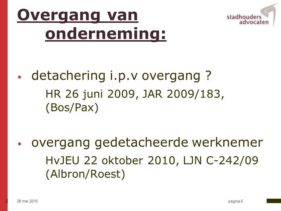 28 mei 2016 pagina 7 Ontbindingsvergoeding Aanbevelingen 2009 kort dienstverband -Ktr.
