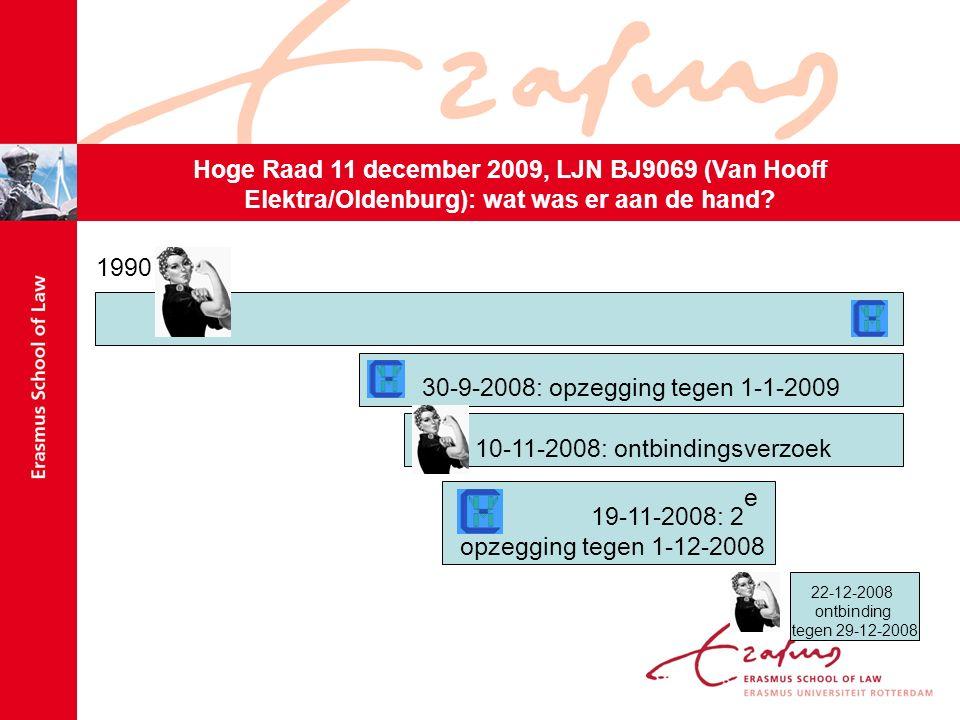 Hoge Raad 11 december 2009, LJN BJ9069 (Van Hooff Elektra/Oldenburg): wat gebeurde er na de ontbinding.