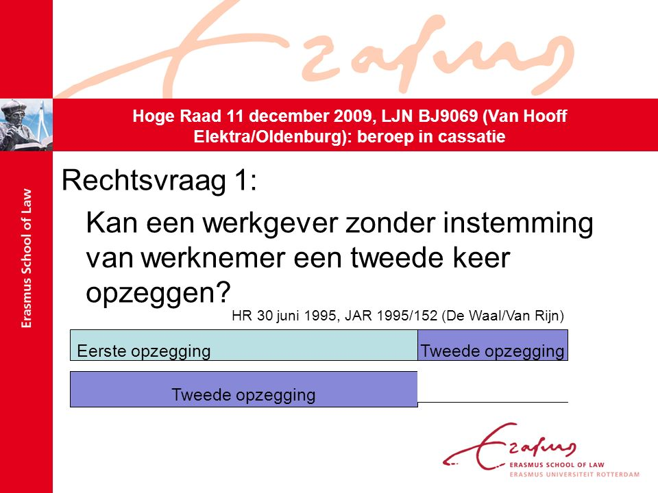 Oordeel HR (r.o.3.4): Tweede opzegging hield geen ongedaanmaking van eerste opzegging in.