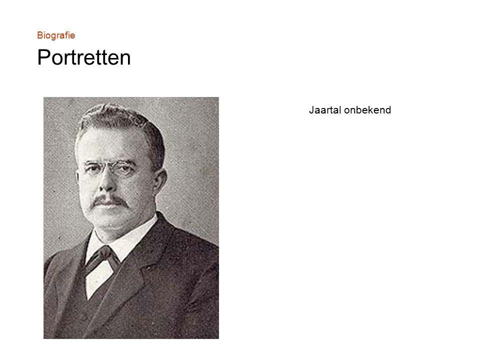 Biografie Portretten Jaartal onbekend