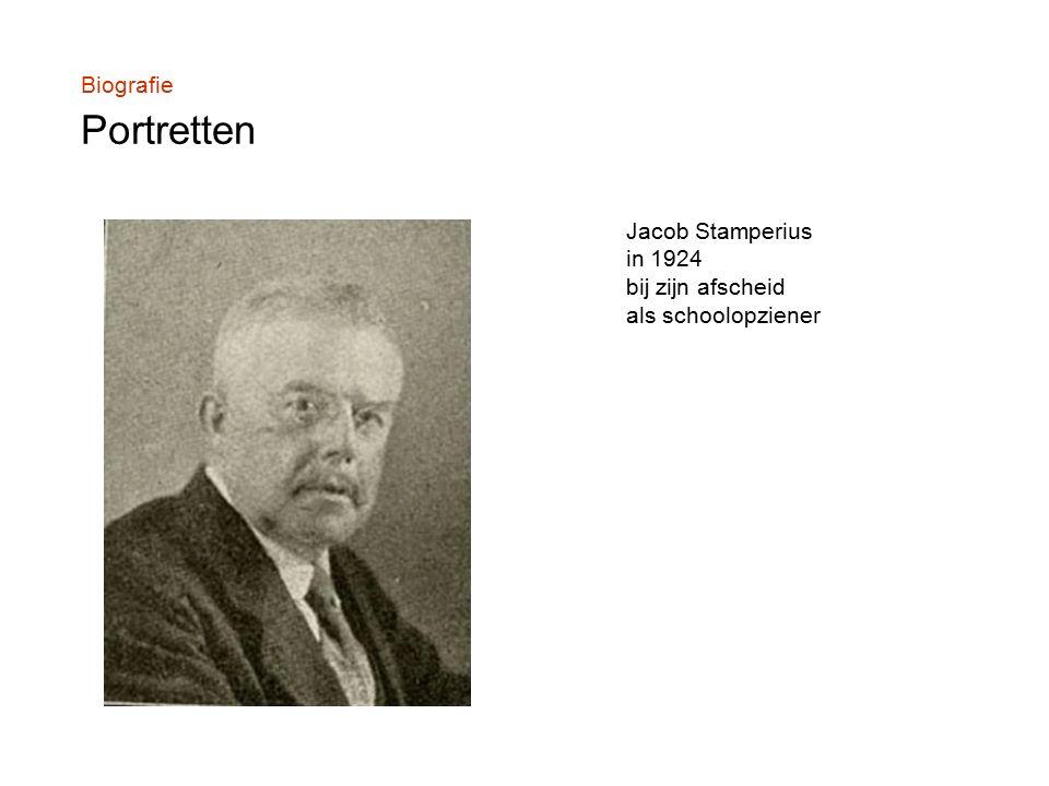 Biografie Portretten Jacob Stamperius in 1924 bij zijn afscheid als schoolopziener