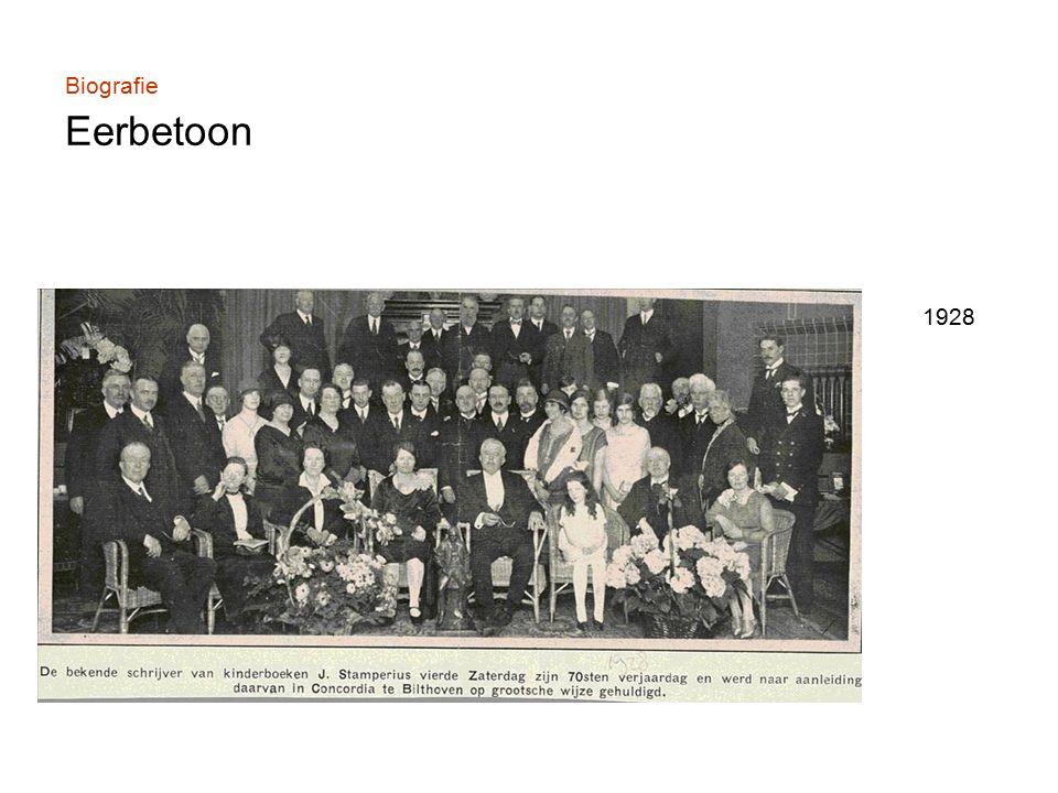 Biografie Eerbetoon 1928