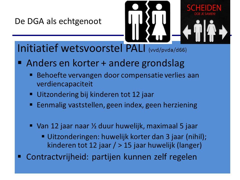 Initiatief wetsvoorstel PALI (vvd/pvda/d66)  Anders en korter + andere grondslag  Behoefte vervangen door compensatie verlies aan verdiencapaciteit