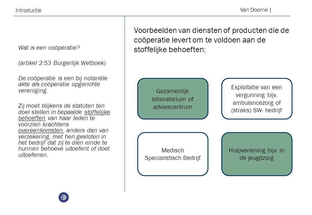 Introductie Van Doorne | Wat is een coöperatie.