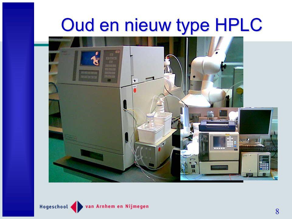 8 Oud en nieuw type HPLC