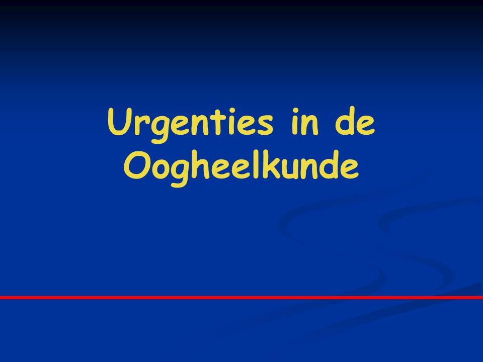 3.Orbita 1.Preseptale cellulitis Diffuus oedeem en roodheid van de oogleden Milde koorts < 5j : Haemophilus Influenzae > 5j : Staph.