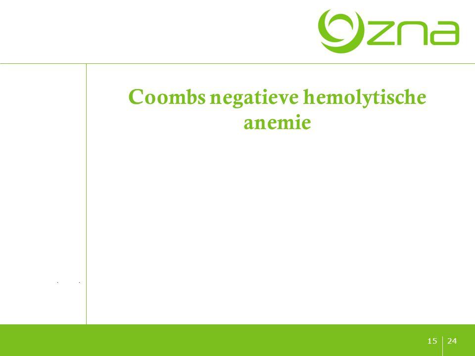 titel ondertitel datum 2415 Coombs negatieve hemolytische anemie