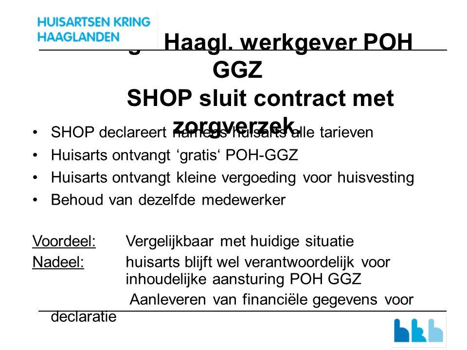 4 Indigo Haagl. werkgever POH GGZ SHOP sluit contract met zorgverzek.