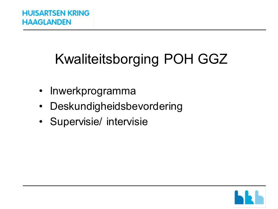 Kwaliteitsborging POH GGZ Inwerkprogramma Deskundigheidsbevordering Supervisie/ intervisie