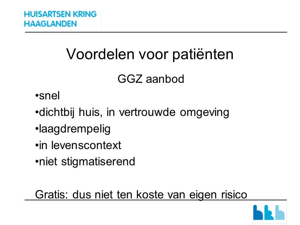 POH-GGZ tarieven Moduletarief per ingeschreven patiënt€ 3,68 p.j.