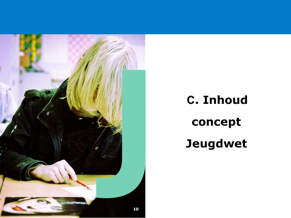 10 C. Inhoud concept Jeugdwet