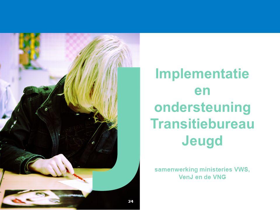 Implementatie en ondersteuning Transitiebureau Jeugd samenwerking ministeries VWS, VenJ en de VNG 24